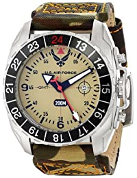 U.S. Air Force Wrist Armor Men's 37WA033101A Watches Analog Display Swiss Quartz Multi-Color Watch