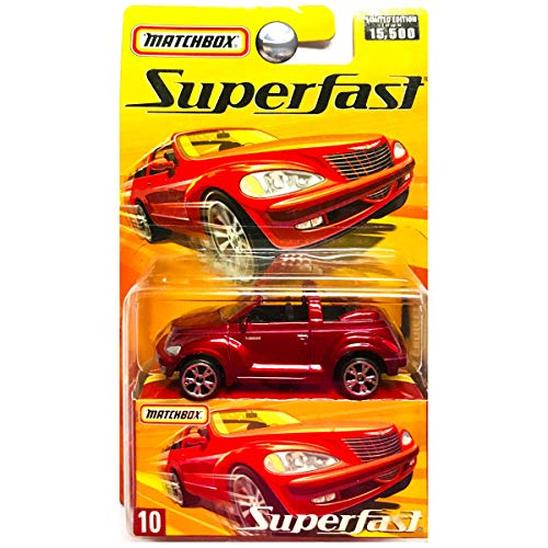 Matchbox 2006 Superfast Chrysler PT Cruiser Convertible Ruby Red #10