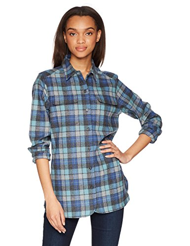 Pendleton Women's Wool Board Shirt, Blue Original Surf Plaid, MD
