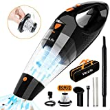 Vaclife Handheld Vacuum, Hand Vacuum Cordless with High Power, Mini Vacuum Cleaner Handheld Powered by Li-ion Battery Rechargeable Quick Charge Tech, for Home and Car Cleaning, Black & Orange