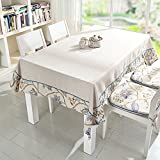 Pastoral Embroidered Tablecloth,Fashion Cloth Table Cloth,Table Mat Rectangular Tea Table Mat-B 140x220cm(55x87inch)