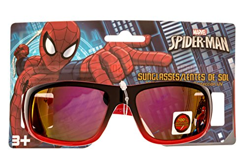 Marvel Spider-Man Kid's Sunglasses 100% UV Protection in Red and - Spiderman Kids Sunglasses