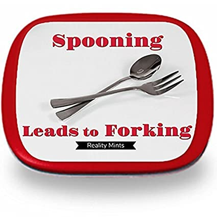 Amazoncom Spooning Leads To Forking Mints Unique Diet Gifts For