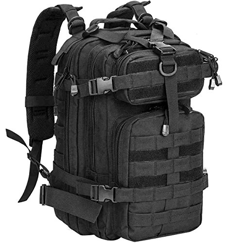 WolfWarriorX Military Tactical Assault Backpack Hiking Bag Extreme Water Resistant Small Rucksack Molle Bug Out Bag for Touring, Tenting, Trekking & Hiking – DiZiSports Store