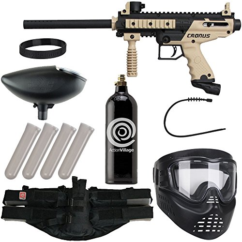 Action Village Tippmann Epic Paintball Gun Package Kit (Cronus) (Tan Basic) by ActionVillage