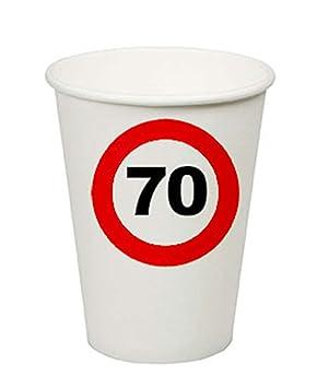 whity Whiteman - Party decoración vasos de papel Uni 70º ...