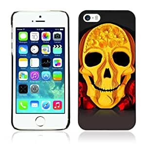Designer Depo Hard Protection Case for Apple iPhone 5 5S / Cool Yellow Skull Art