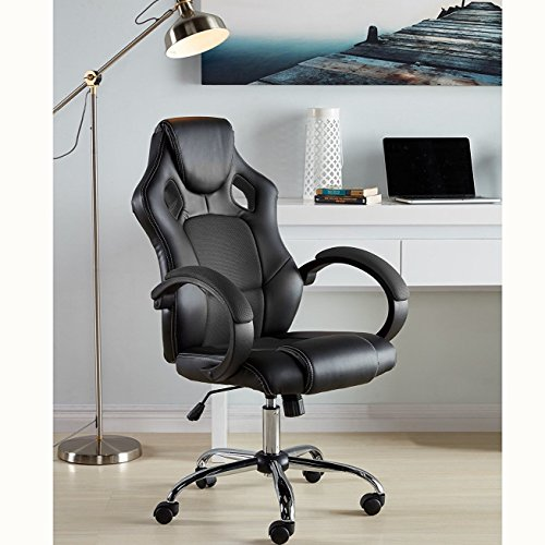 51dMofr74rL - Video-Game-Chair-With-Lock-Caster-Racing-Chair-Home-Office-Computer-Desk-Chair-Ergonomic-High-Back-Executive-Chair