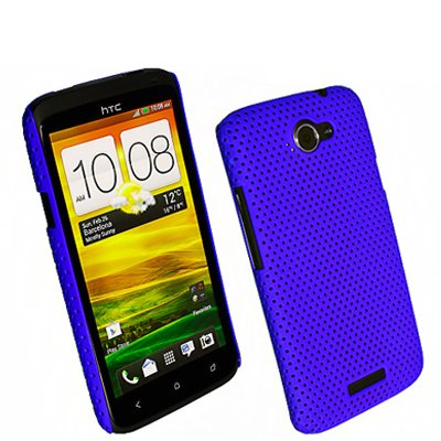 Net Case Handy Cover für HTC One X / S720e Blau
