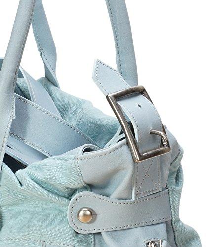 Damen - Leder Handtaschen 300011 Blau GsFHSny