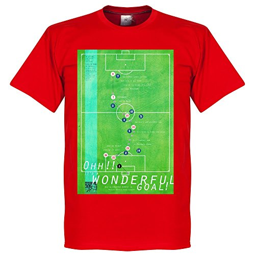Pennarello Michael Owen 1998-Maglietta da calcio, colore: rosso
