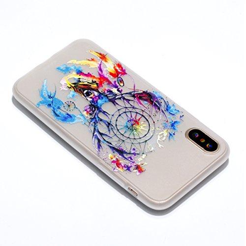 iPhone X Hülle Geweih Premium Handy Tasche Schutz Transparent Nachtleuchtenden Schale Für Apple iPhone X / iPhone 10 (2017) 5.8 Zoll + Zwei Geschenk