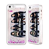 iphone 5 cases one direction - Official One Direction GP2 Group Photos Silver Liquid Glitter Case Cover for Apple iPhone 5 / 5s / SE