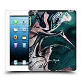 Official Nature Magick Teal Luxe Gold Marble Metallic Hard Back Case Compatible for iPad 3 iPad 4