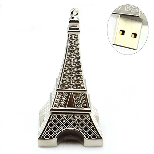 Metal Shaped USB Flash Drive Memory Stick USB Storage (Eiffel 8GB) (Tower Pendrive Eiffel)