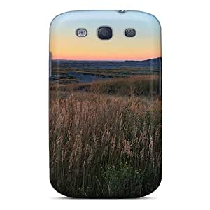 Fashion Tpu Cases For Galaxy S3- Gorgeous Plain In South Dakota At Sunset Defender Cases Covers