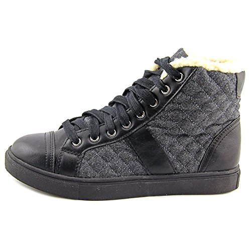 Madden Girl Everestt Dames Ronde Neus Canvas Sneakers Zwart