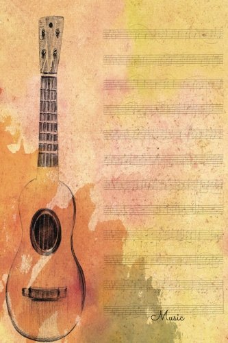 Music: Guitar. Gifts For Music Lovers, Teachers, Students, Songwriters. Presents For Musicians. 6 x 9in Journal Ruled Notebook To Write In 200 Lined Pages Insignia Music Books