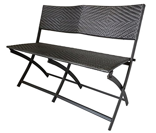 Dura Housewares 10692 Marseille Foldable Love Seat Chair, Charcoal Color by Dura Housewares