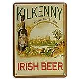 KILKENNY IRISH BEER Small Nostalgic Vintage Metal Tin Pub Sign