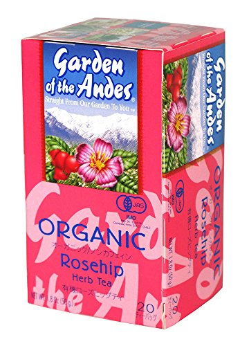 Garden of the Andes 100% Organic Herbal Tea, Rosehip and Hibiscus, 20-Count - Cup Prairie Rose