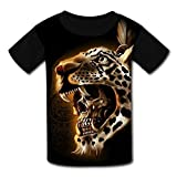 3D Printed Shirts,Tiger Children Youth T-Shirts Boy Girl Casual Short Sleeve Shirt for Kids Tee