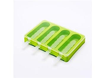 Herramienta de decoración Moldes de paletas superponibles Bandeja de Helado de Silicona Lolly Molds Ice (