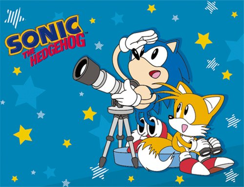 GE Animation 57702 Sonic & Tails Telescope Throw Blanket by GE Animation