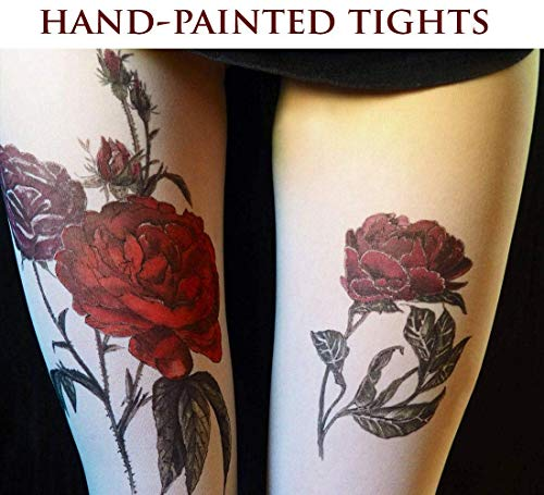 (Tights with Hand-Painted Red)