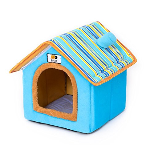 - KTYX Pet Nest Puppy Kennel Four Seasons Detachable Teddy Bear Small Dog Dog House Pet Supplies Cat Nest Villa Pet Bed (Size : L)