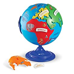 Learning Resources Puzzle Globe, 3D Geog...