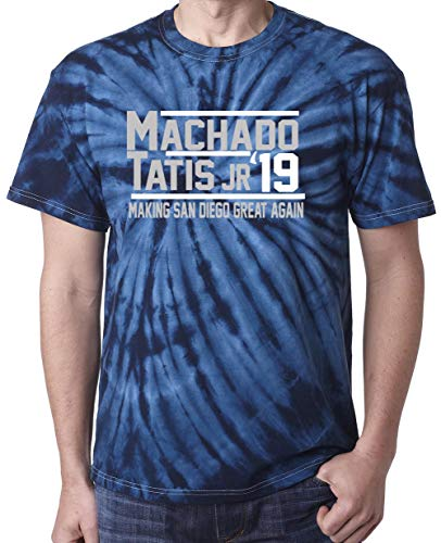 TIE-DYE Navy San Diego Machado Tatis Jr 2019 T-Shirt Adult