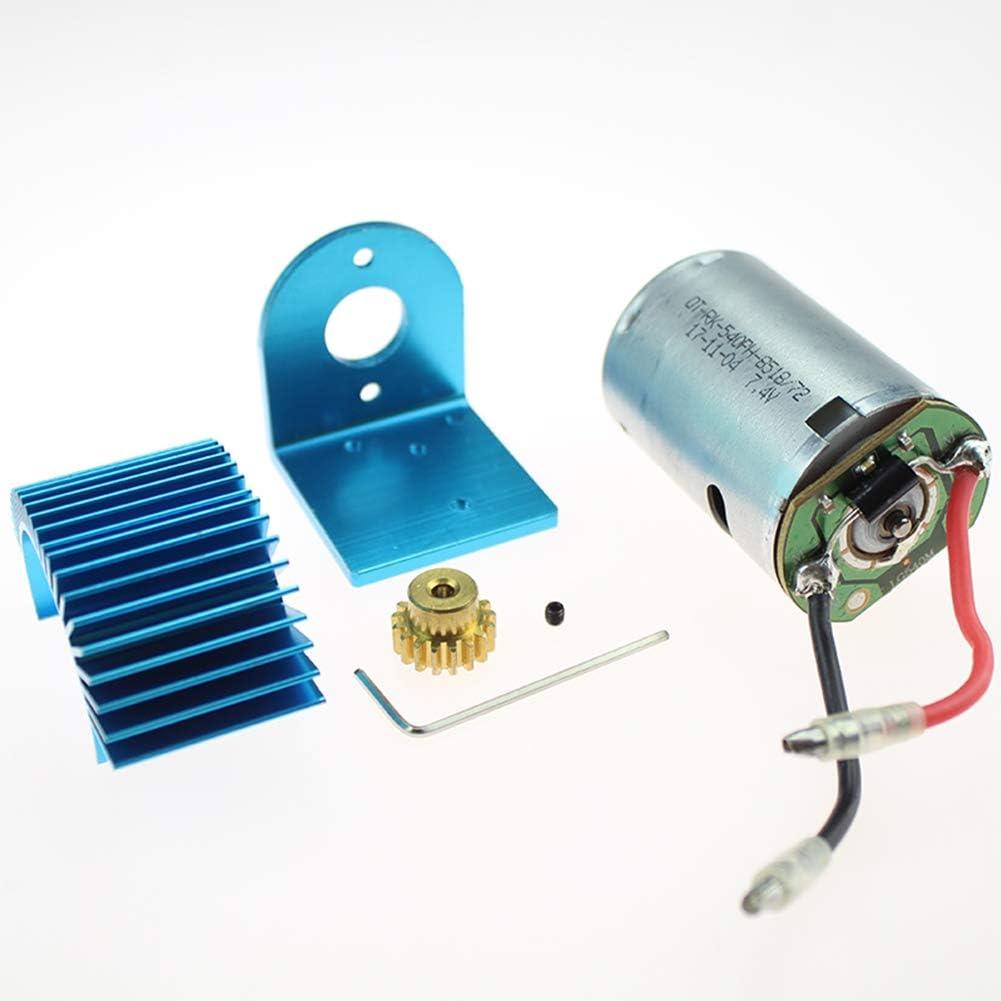 Für Wltoys 12428 12423 1//12 RC Auto Upgrade Teile 540 Motor 17T Motor Getriebe