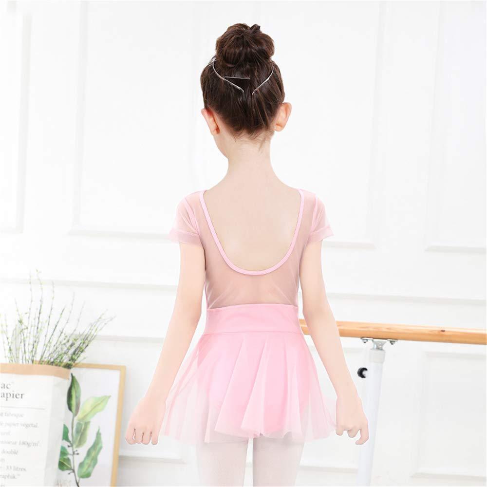 Hoverwin - Ballet Dresse Fille Justaucorps Robe de Danse Classique Gym Jupe  Robe Princesse Manches Courtes Tutu Léotard Ballet Tulle Costume Ballet -  Adapté ... b49983cf02d