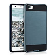 kwmobile Hybrid case Design Brushed for Huawei P8 Lite (2015) in dark blue black
