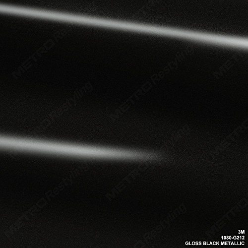 3M 1080 G212 Gloss Black Metallic 5ft x 3ft (15 Sq/ft) Car Wrap Vinyl - Film Metallic