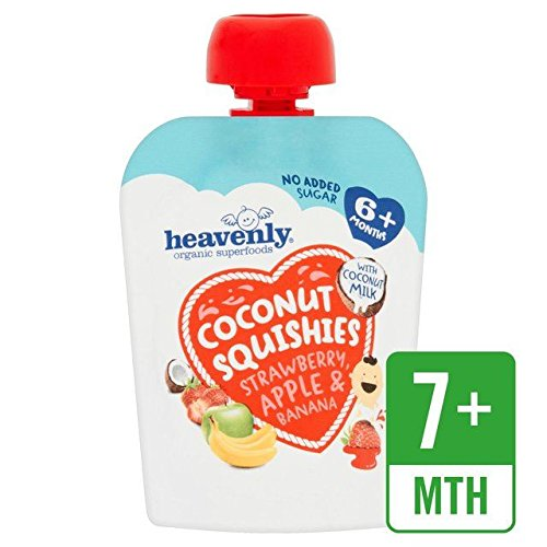 Heavenly Organic Coconut Squishies Strawberry, Apple & Banana – 90g (0.2lbs)