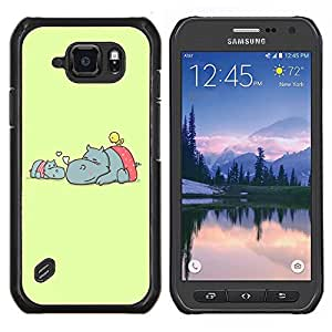 Dragon Case - FOR Samsung Galaxy S6 active/G870A/G890A (Not Fit S6) - strong for too long - Caja protectora de pl??stico duro de la cubierta Dise?¡Ào Slim Fit