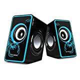 MARVO Game USB 2.0 Powered Multimedia Computer Speakers With Surround Subwoofer Heavy Bass for PC/Laptops/Computer speaker (Blue)SG-201