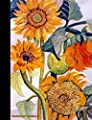 Sunflower Notebook: Flower College Ruled Composition Book Journal - Floral Softcover Perfect Bound, Lined 100 pages (50 Sheets), 9 3/4 x 7 1/2 inches (Floral Gardener Gifts) (Volume 3)