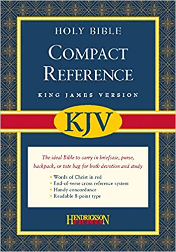 Book KJV Large Print Compact Reference Bible Black Bonded Leather