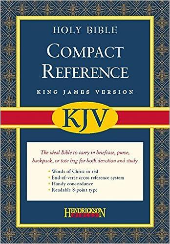 KJV Compact Large Print Reference Bible, Bonded Leather, Burgundy