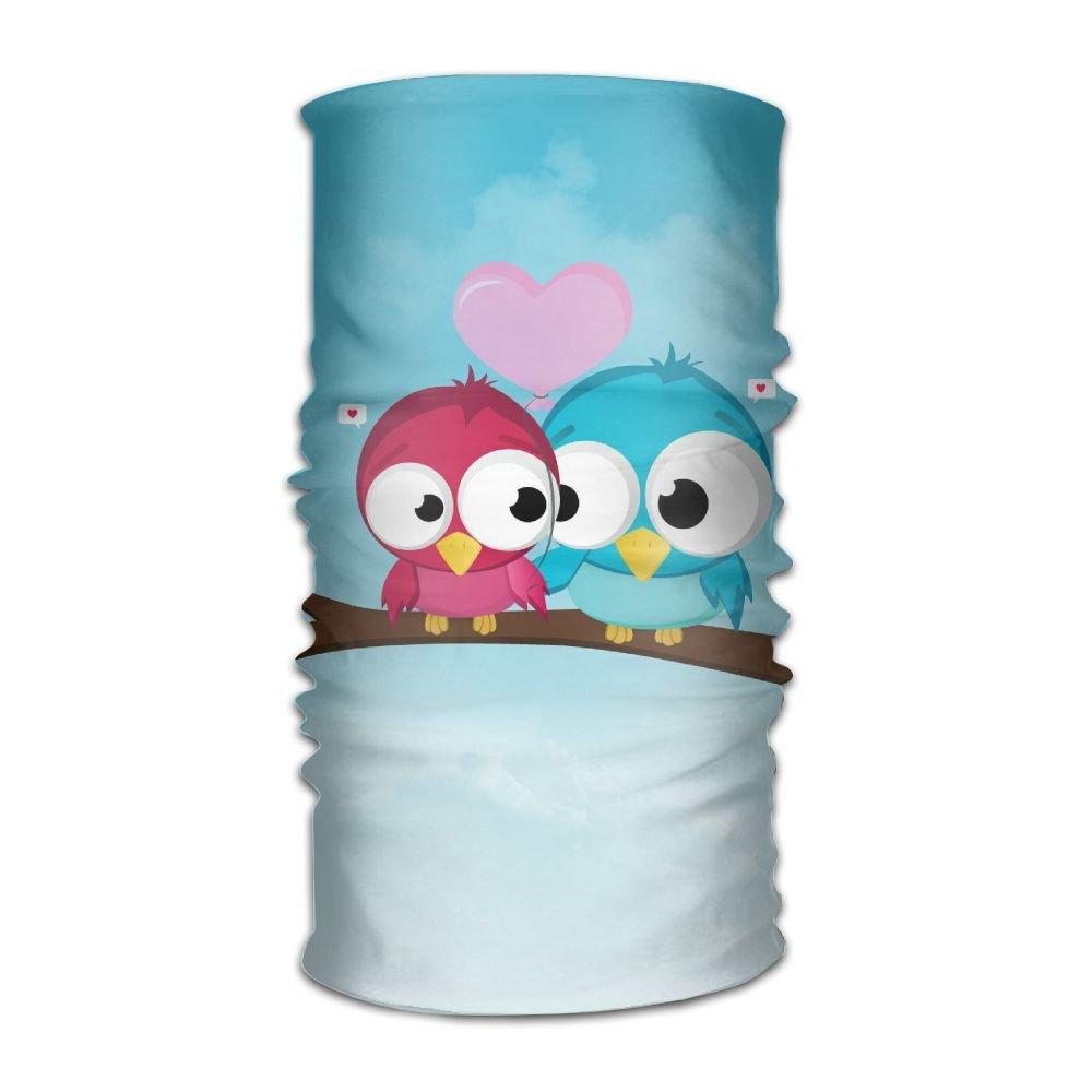 Redcong Headbands Headwear Bandana Cute Love Owls Scarf Wrap Mask Sweatband Outdoor Headscarve