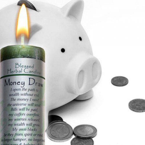 Blessed Herbal Money Draw Candle by Coventry Creations (Image #2)