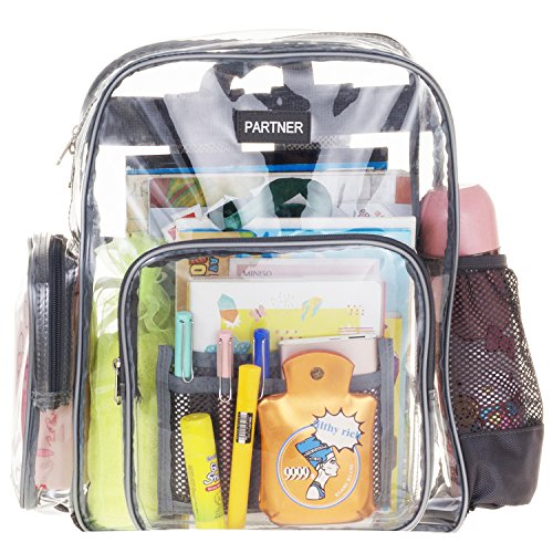 kpack Durable Military Nylon - Transparent for School, Security, Stadiums Travel Fit 15.6 Inch Laptop By PARTNER US ()