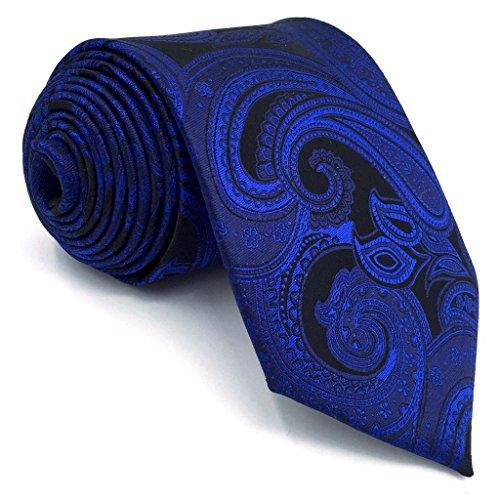 New Silk Mens Necktie Tie (Shlax&Wing Mens Necktie Paisley Dark Blue Navy Silk Tie For Men Fashion New)
