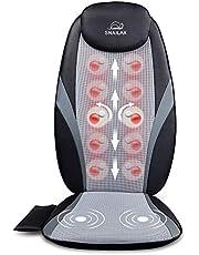 Snailax Shiatsu Massage Cushion with Heat Massage Chair Pad Kneading Back Massager for Home Office Seat use SL-256