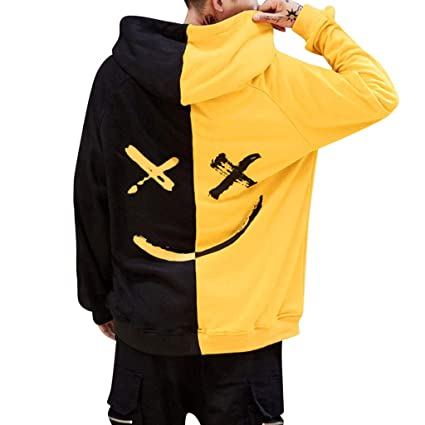 d8147554a Amazon.com: Men Jacket Pullover,Unisex Teen Smiling Face Fashion ...