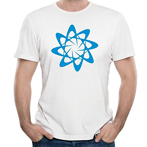 Men's Atomic Particle Style Shape With Atoms Adult T Shirt