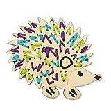 "BUCILLA 46124 Handmade Hedgehog Charlotte Wood Stitchable Shapes, 3"" x 3"""